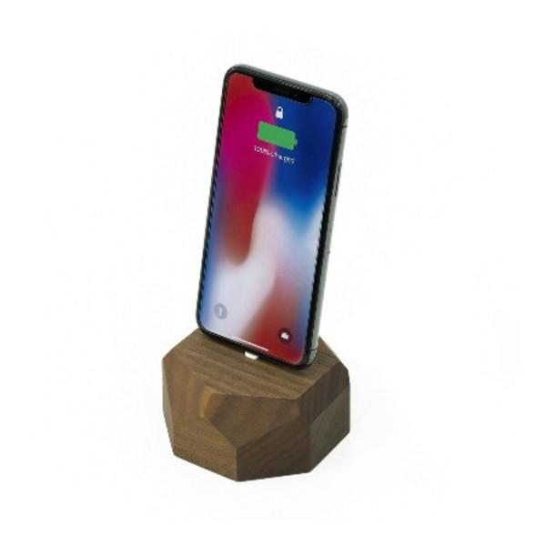 Walnut iPhone & iPod Dock Image 1
